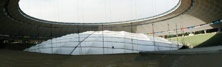 西武ライオンズ球場 屋根架構工事